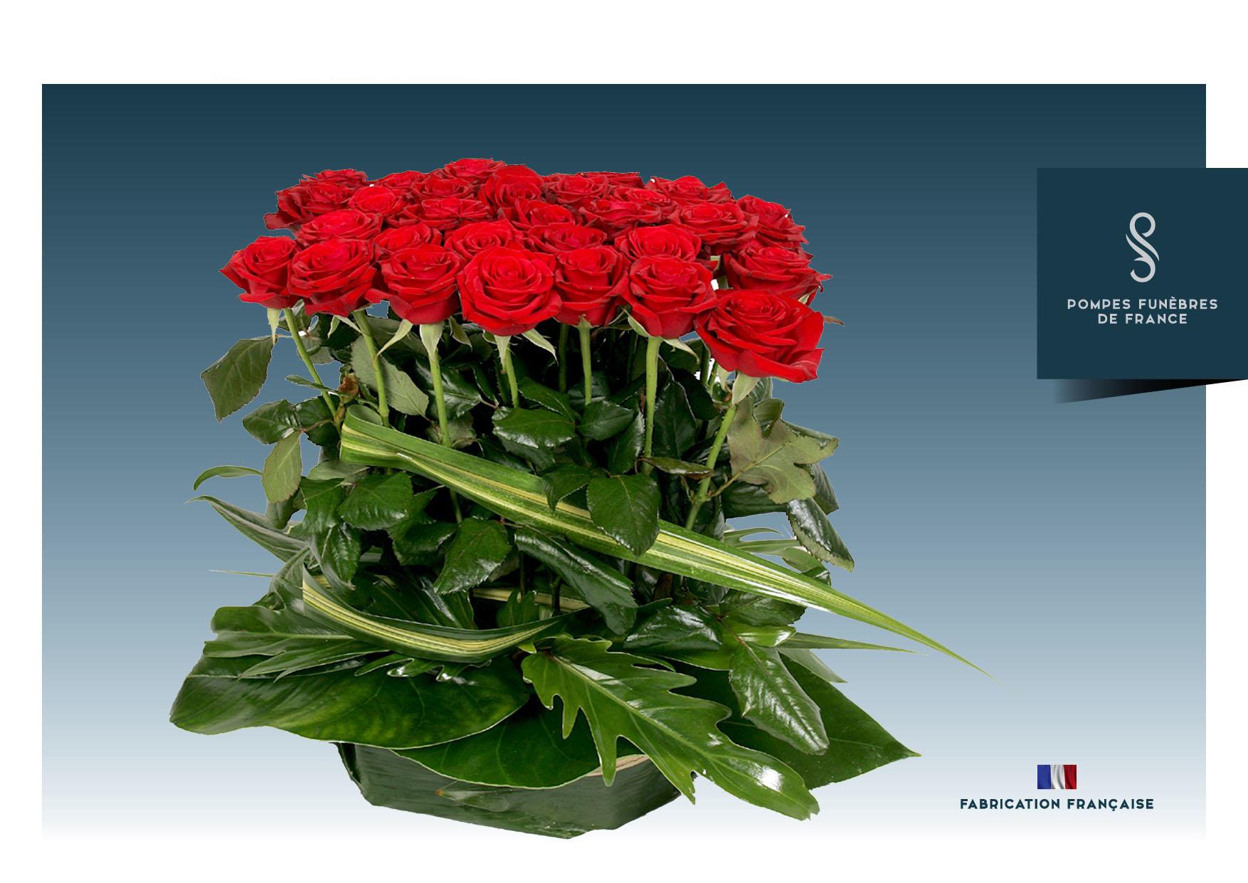 Roses individuelles à déposer en geste de dernier hommage