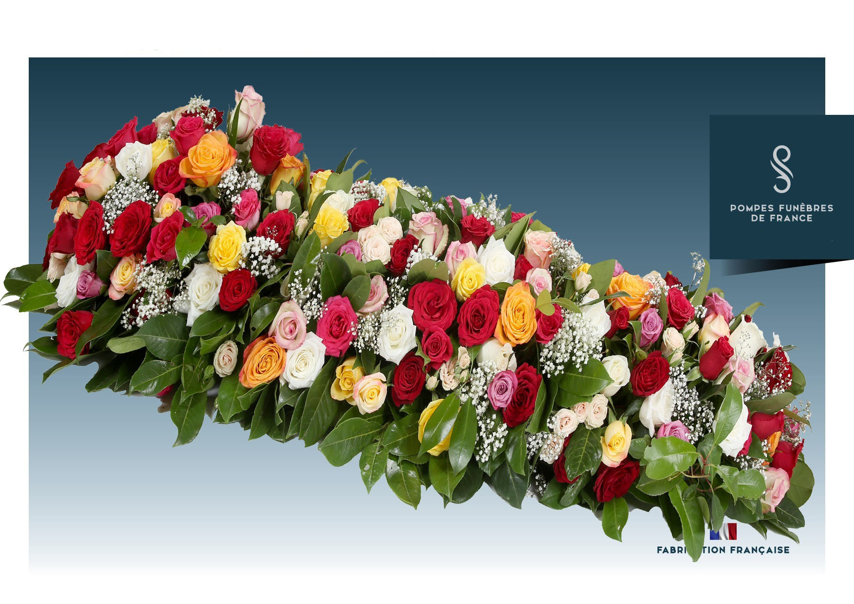 Dessus de cercueil ARC EN CIEL