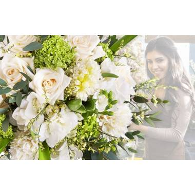Bouquet Hommage du fleuriste Blanc