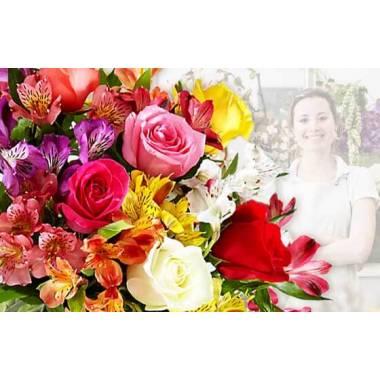 Bouquet Hommage du fleuriste Coloré